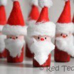 Easy Santa Corks Ornaments (& Santa Bowling)