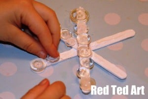 Snowflake crafts with kids