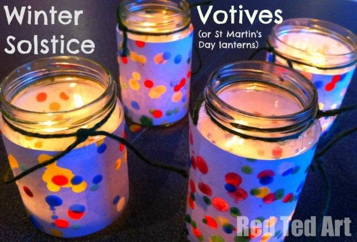 Materials ... & Winter Solstice Crafts - Votives or Lanterns