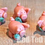 Marzipan Pigs for New Year's Crafts for kids