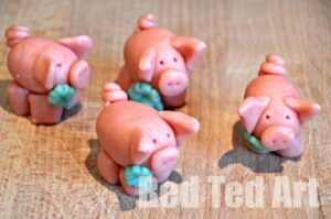Marzipan Pigs for New Year's