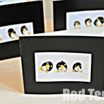 Kids Crafts: Penguin Finger Print Cards (Thank You Cards)