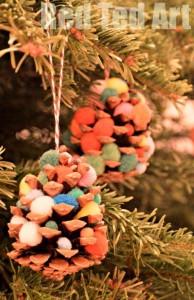 Pom Pom Pinecone Trees