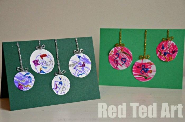 Preschooler Christmas Cards Simple Bauble Cards
