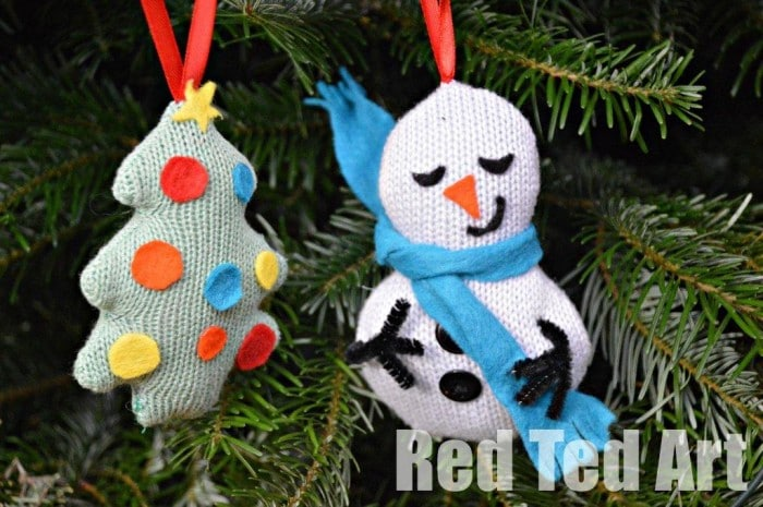 Recycled christmas ornaments christmas tree snowman Christmas tree ideas using recycled materials