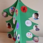 Teacher Class Christmas Card - easy kids crafts made from every day items