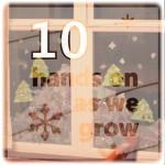 Creative Christmas Day 10: Decorated Windows