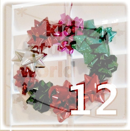 Creative Christmas Day 12:  Paper Plate Bow Wreath