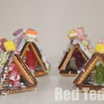 mini-gingerbread-houses - easy kids crafts made from every day items