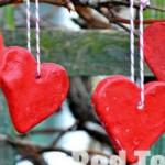 Salt dough heart crafts