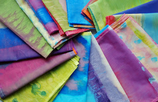 painted scarves