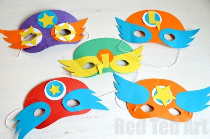 Kids Crafts: Superhero Masks (+ Template)