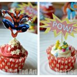 Superhero Cupcake Toppers How To and Printable
