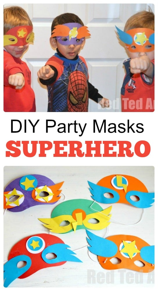 Superhero Party Masks - simple Party Craft that the kids will love to make