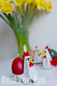 Adorable Chick Crafts for Kids: Chicken Egg Cups - a simple upcycled craft idea