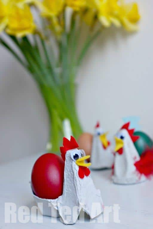 Egg carton chicken wonderful egg carton craft for easter for Egg tray craft ideas