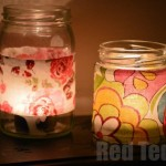 Kids Crafts: Fabric Jar Lanterns