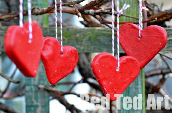 Salt dough hearts for Valentine's Day or CHristmas