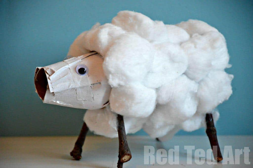 30 Cute Lamb Sheep Crafts Red Ted Art S Blog