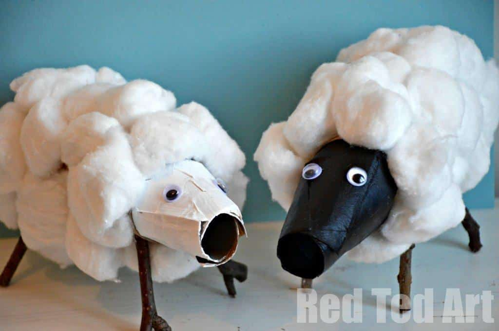 Toilet Paper Rolls Craft: Sheep