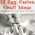What to make from Egg Cartons - Here we hangout and share some of our favourite egg carton crafts