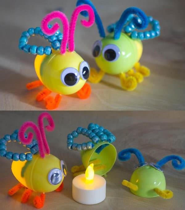 recycled-lightening-bugs-using-plastic-easter-eggs