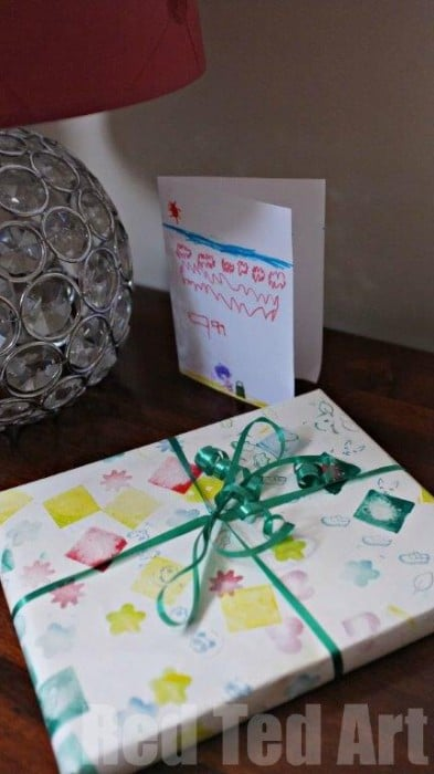 Child made gift paper