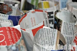 Newspaper Seedling pots