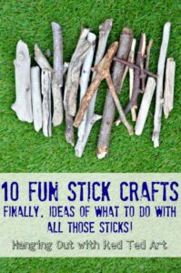 10 Stick Crafts - finally get crafty with all those sticks brought back from walks