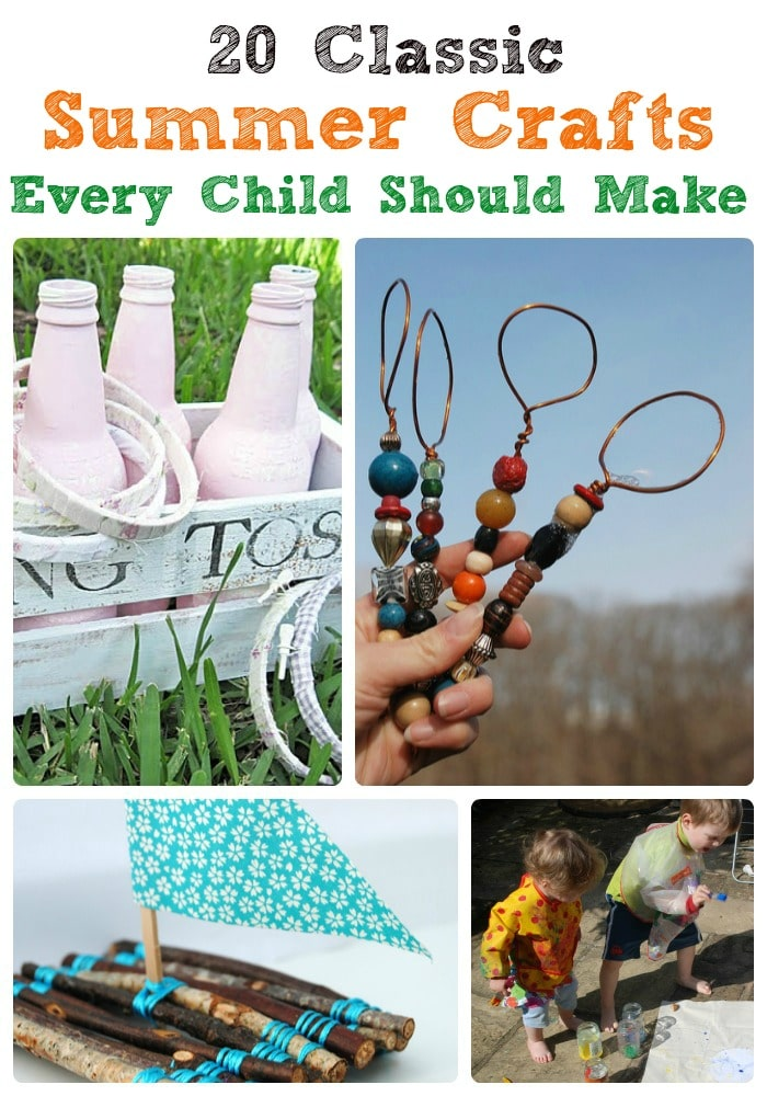 20 Classic Summer Crafts. 20 fabulous Summer DIY Ideas to make summer fun. Great for Kids, for teens and for adults. Summer Activities and Summer Crafts sorted! #Summer #crafts #forteens #forkids