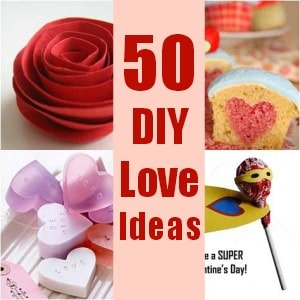 50 DIY Valentine's Ideas - Crafts & Baking