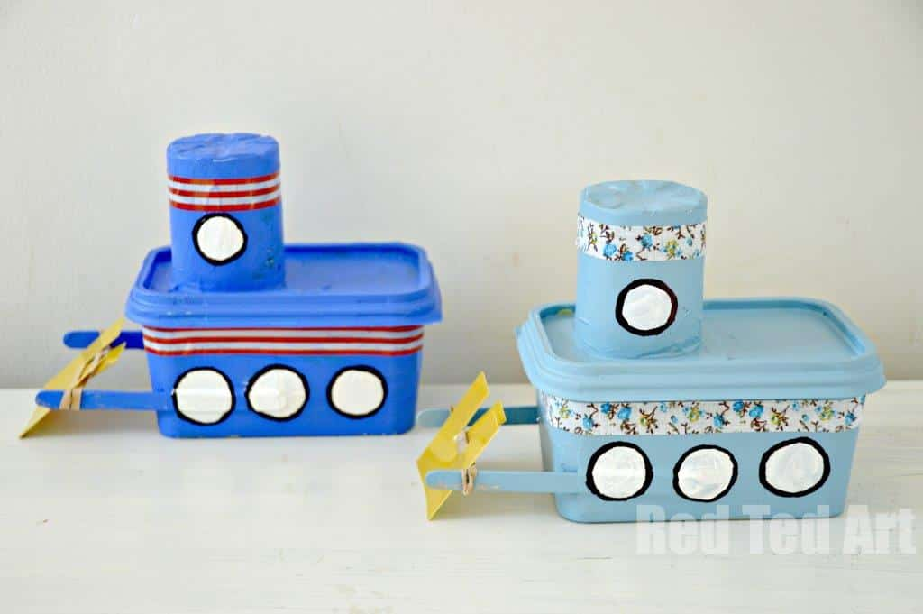 Margarine Tub Tug Boat Craft
