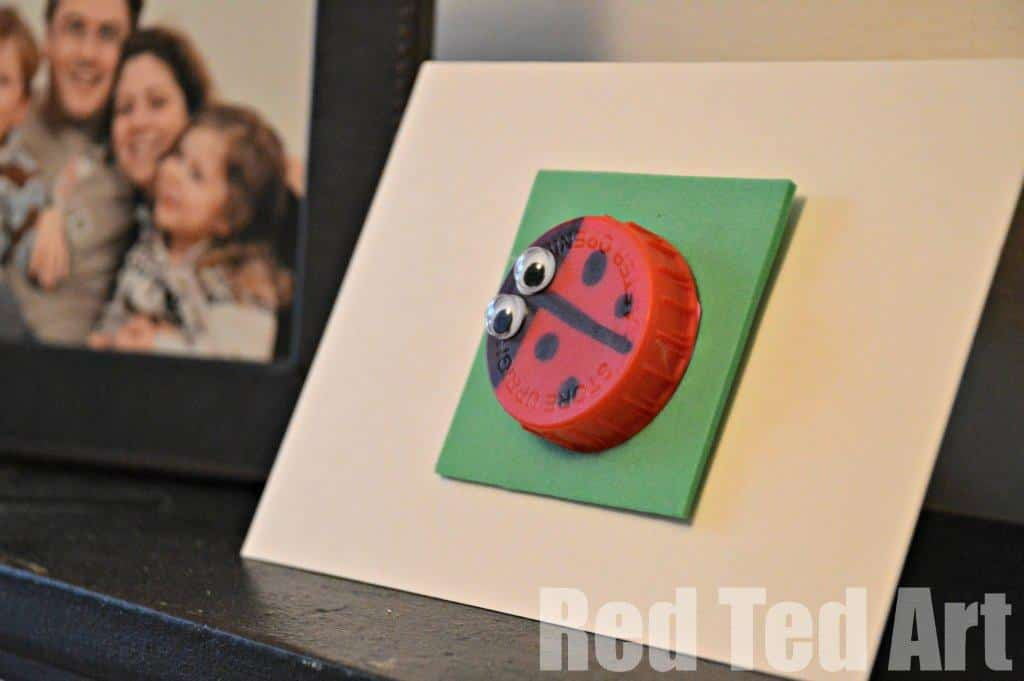 Bottle Top Crafts: Bugs, Aliens and a Bunny