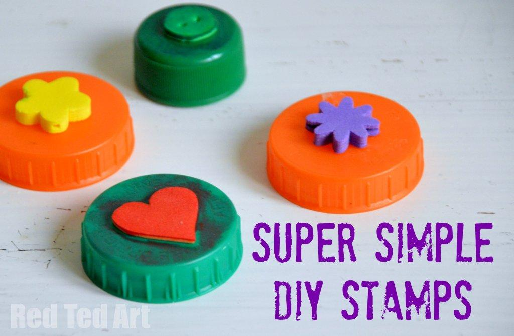 Bottle Top Crafts – simple DIY stamps