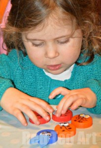 Bottle top crafts ladybirds and bunnies