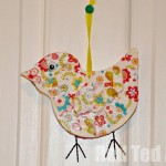 Decoupage bird