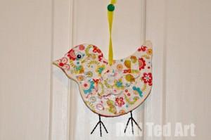 Decoupage bird