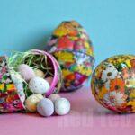 Kids Craft: Decoupage Easter Egg Craft