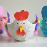 Easter Craft Basket - Tissue Paper Mache