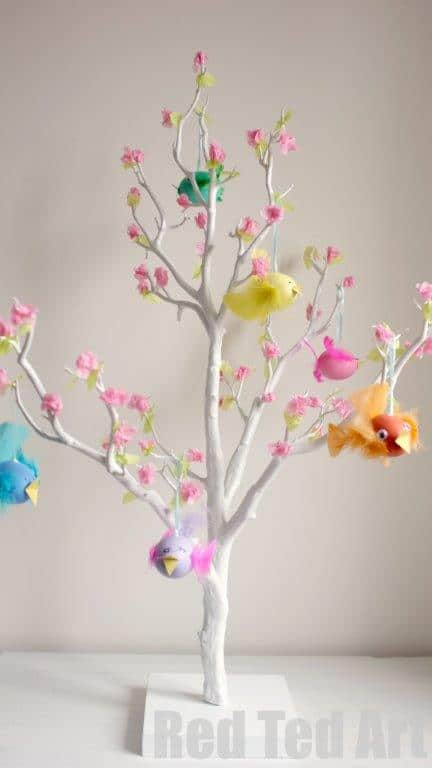 Easter tree decorating ideas How to make an easter egg tree