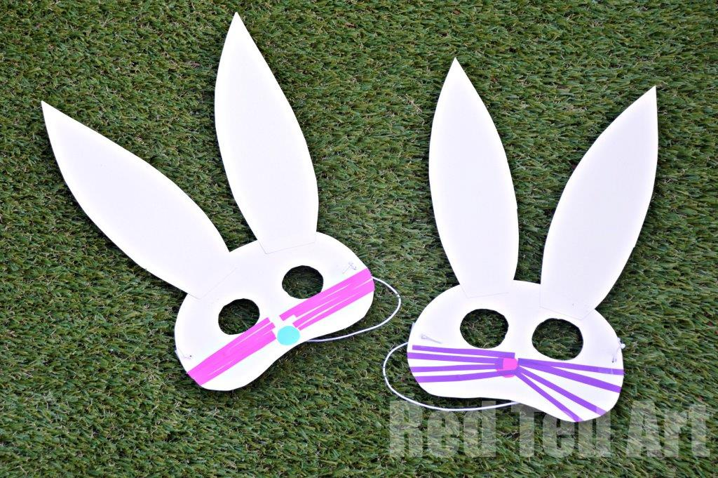 Easy Easter Bunny Masks - no mess