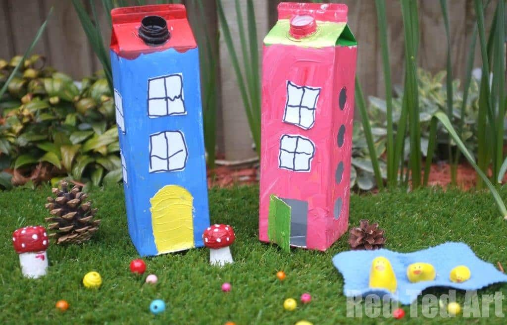 Juice Carton Houses