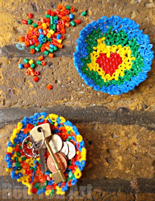 Fathers Day Gift - easy Hama Bead Bowls (or Perler Bead bowls/ Melty bead bowls, depending on what you call them!). A quirky and fun make and a great gift idea. We show you how to make patterns too!