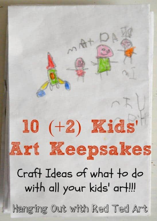Kids Art Keepsake Ideas – what to do with all your kids artwork