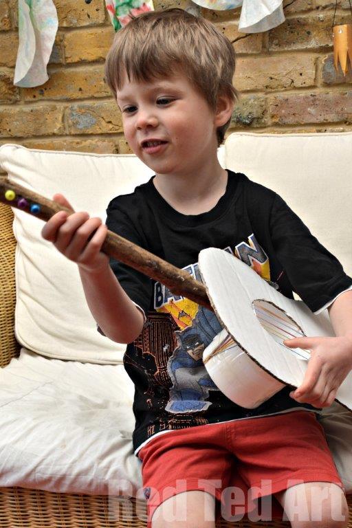 Kids Cardboard Guitar