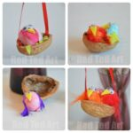Kids Easter Crafts: Walnut Nests