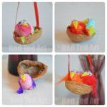 Kids Easter Crafts: Walnut Nests