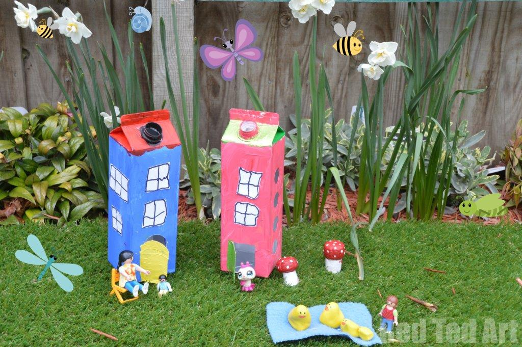 Juice carton houses red ted art 39 s blog for Recycling ideas for kids