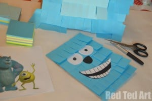 Monsters Inc Pinata craft