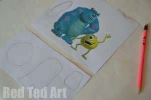 Monsters Inc Puppets Template outline